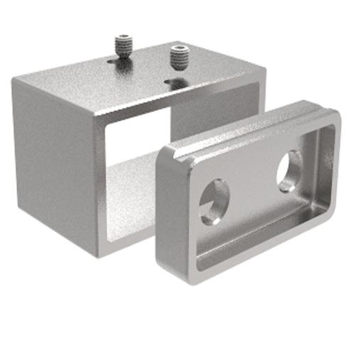 Inox Rectangluar Glass Handrail