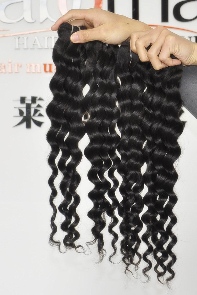Unprocessed Labor Hair Extension 105g (+/-2g) /Bundle Natural Brazilian Virgin Hair Deep Wave 100% Human Hair Weaves Grade 8A
