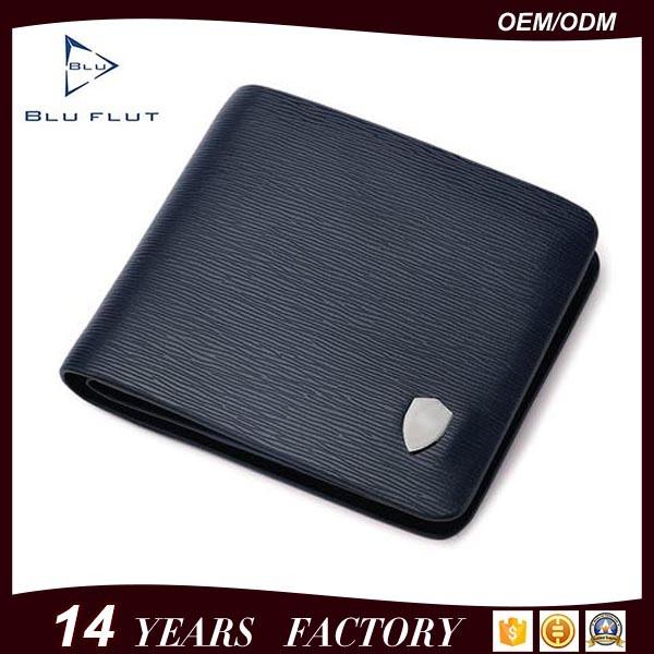 Men′s Formal Business Wear Genuine Embossed Leather Card Holder Wallet