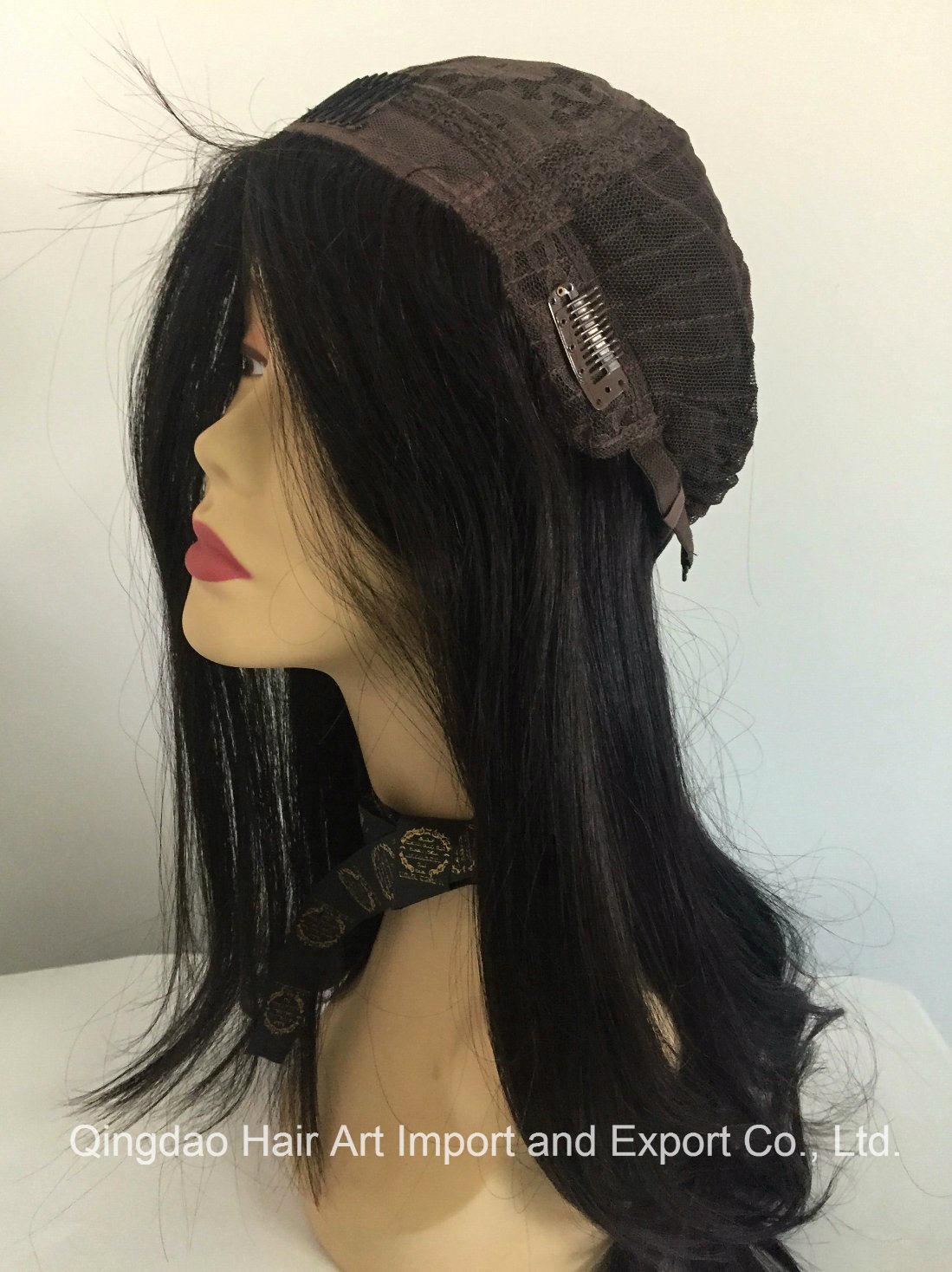 16′′ Mongolian Virgin Hair Silk Top Jewish Wig for Women