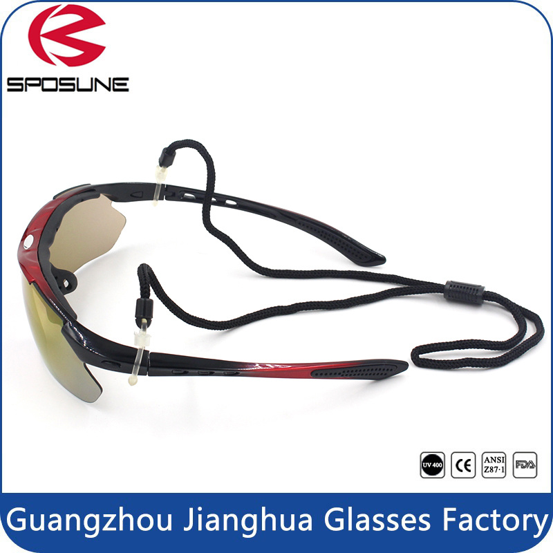 First Quality Polarized Custom Logo Sports Sunglasses Interchangeable Arms Anti UV400 Riding Running Climbing Cycling Sunglasses