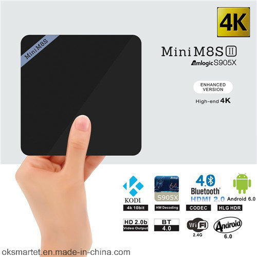 2016 Media Player 1chip Mini M8sii Android 6.0 2GB RAM Mini M8s II Android TV Box