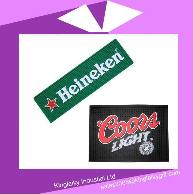 Customized PVC Bar Mat for Promotional Gift