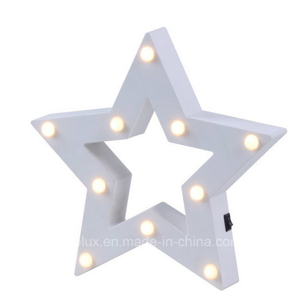 Battery Operated Star Shape 3D LED Symble Vintage Marquee Lights