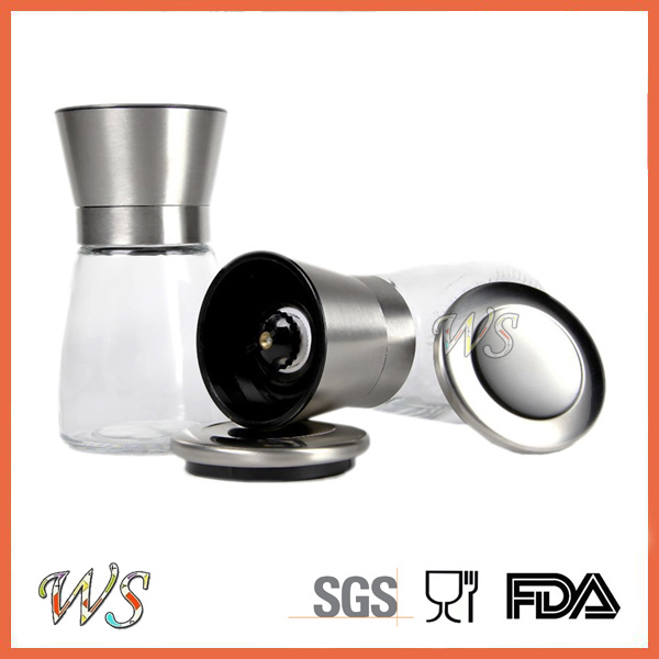 Ws-Pgs001 Premium Salt and Pepper Grinder Set with a Bonus Stand Manual Salt and Pepper Mill
