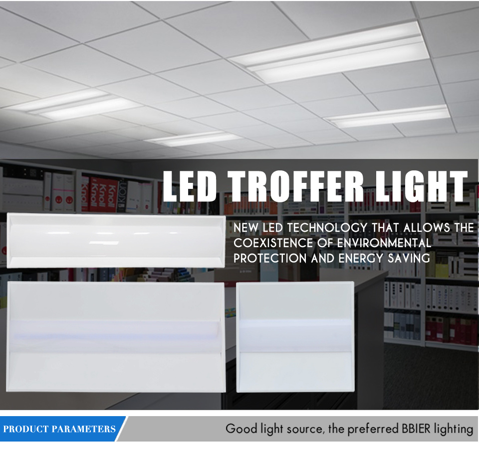 40W 2*2 LED Troffer Light 100-277VAC Can Replace 120W HPS Mh Ce RoHS