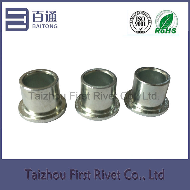 8X7.3mm White Zinc Plated Flat Head Full Tubular Steel Rivet