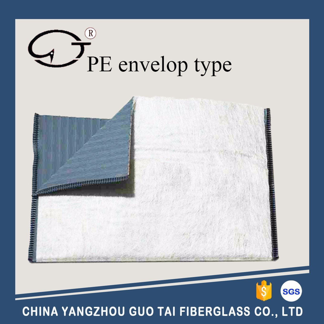 PE Envelop Battery Separator with Glass Mat Inner or Outer