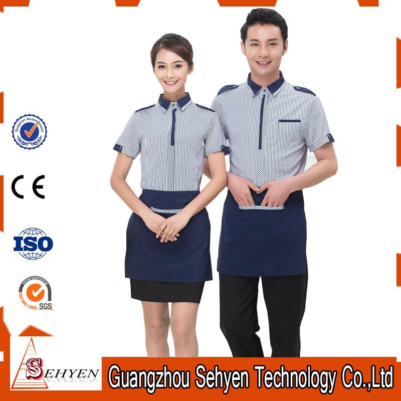 Restaurant Waiter Waitress Apron Uniforms of Polyester