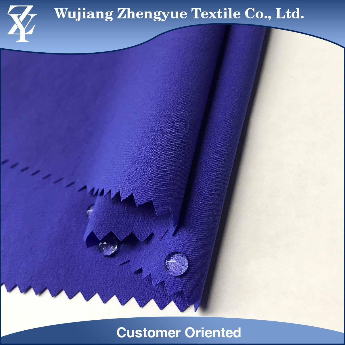 Dobby Waterproof 90% Nylon 10% Spandex Woven 4 Way Stretch Fabric for Garment