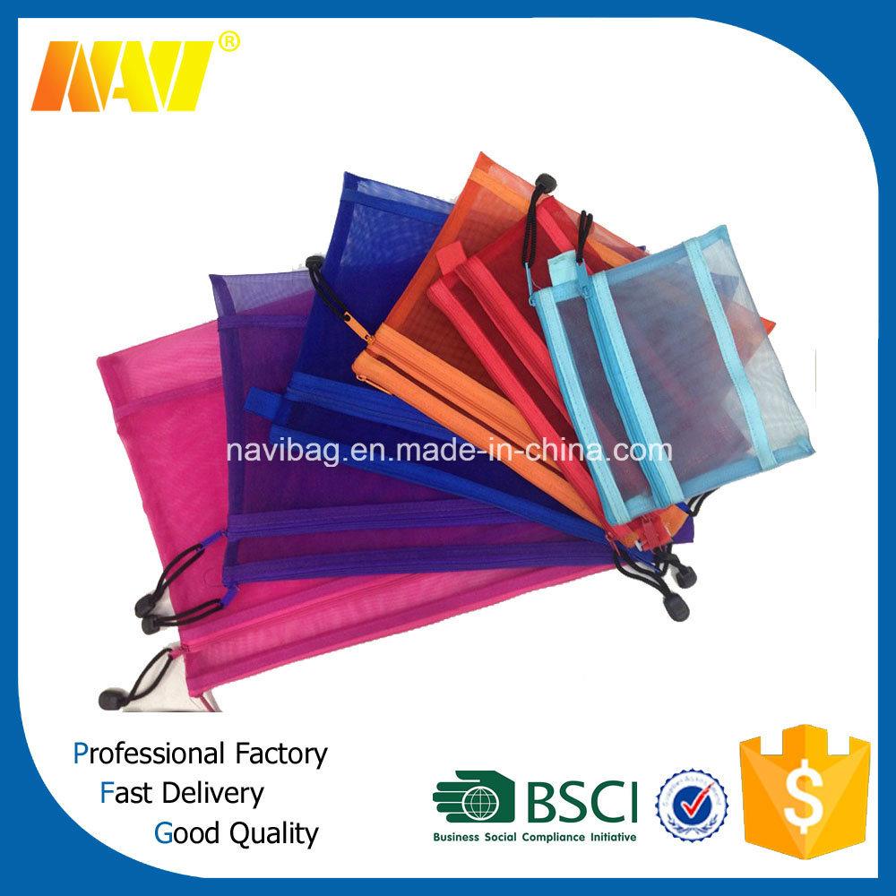 Many Color Choice Nylon Mesh Cosmetic Bag