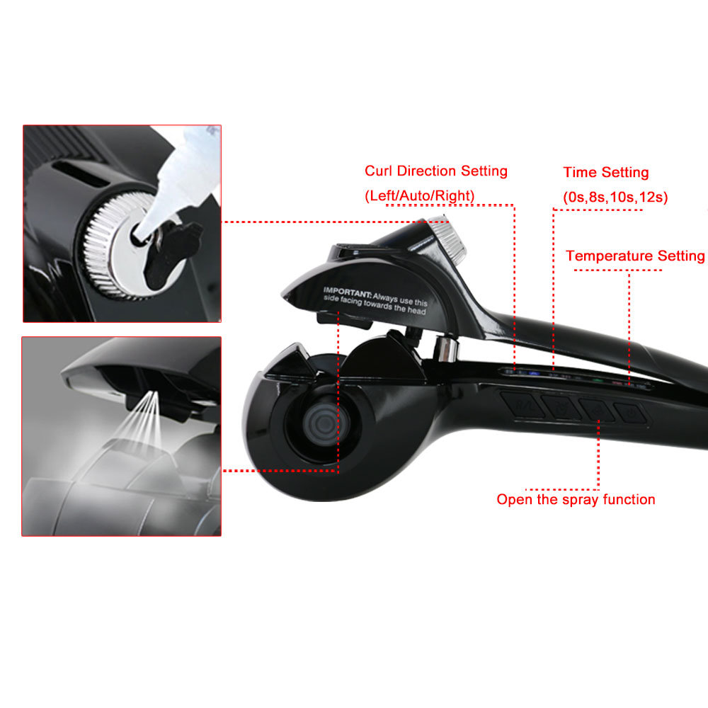 New Design PRO Magic Tec Hair Curler with LCD Indicator