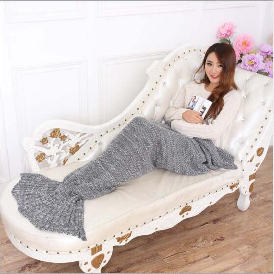 Portable Home Use Comfortable Mermaid Baby Blanket