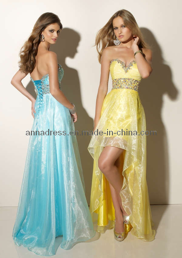 Cheap prom dresses short front long back