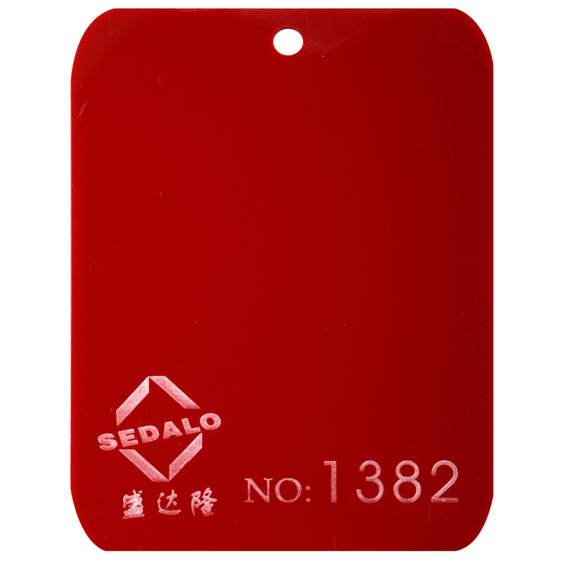 Red Cast Acrylic Sheet (SDL-1382)