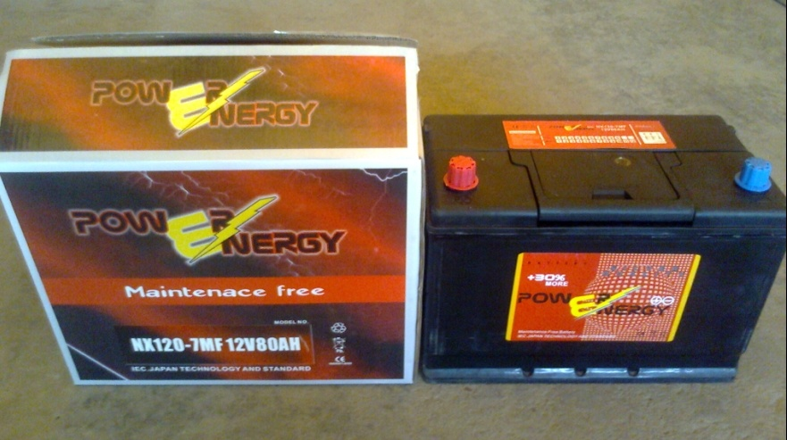 N80mf 12V80ah Maintenance Freelead Acid Car Storage Battery