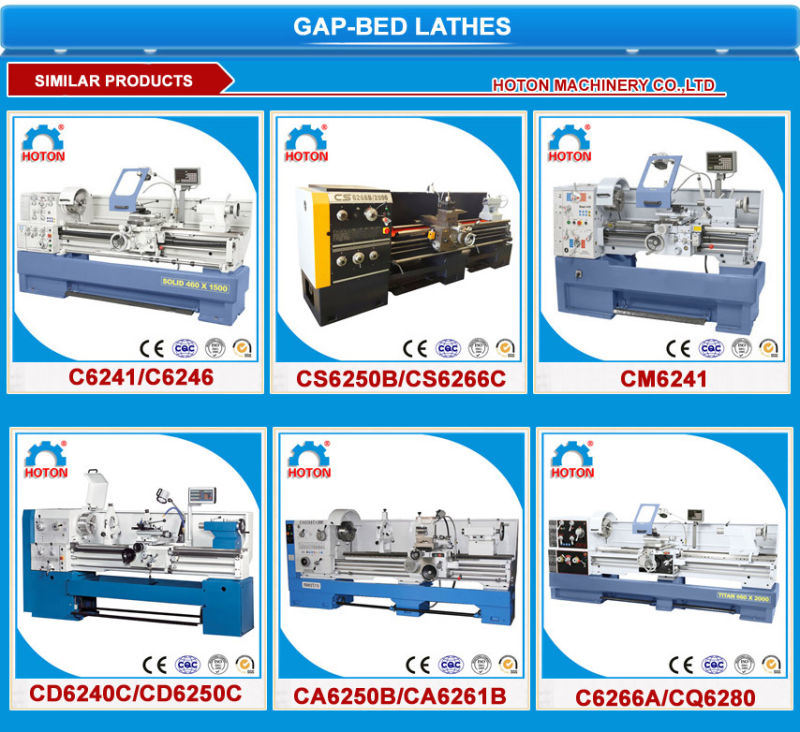 Universal High Precision Horizontal Gap Bed Lathe Machine (CS6250B CS6240B)