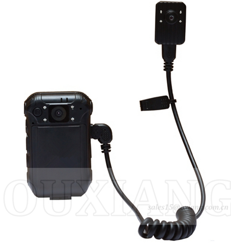 HD1080p Police Video Recorder Camera with 120degree Lens and External Mini Camera