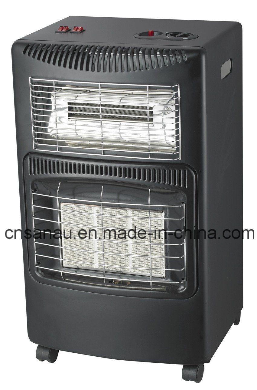 Mobile Gas/Electric Fan Heater with Ceramic Burner Sn08-Dq