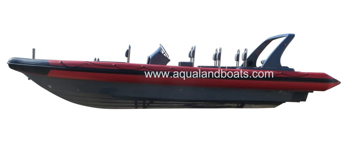 Aqualand 8feet-35feet Military Rib Boat/ Rigid Inflatablerescue Patrol Boat (rib1050)