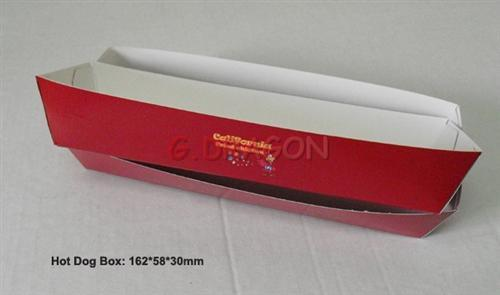 Disposable Paper Food Tray, Holds Nachos, Fries, Hot Dogs (GD-HDB001)