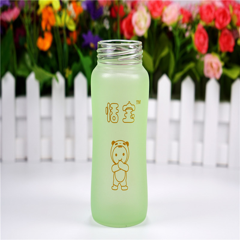 240ml Thermal Silica Gel Baby Glass Bottle with Handle