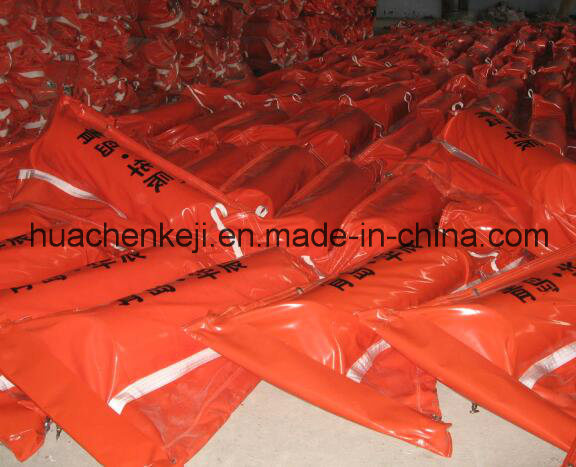 Industrial PVC Oil Containment Boom/Fence, Float PVC Oil Boom