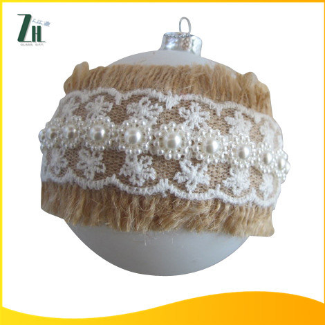 2016 High Quality 8cm Christmas Glass Ornament Ball