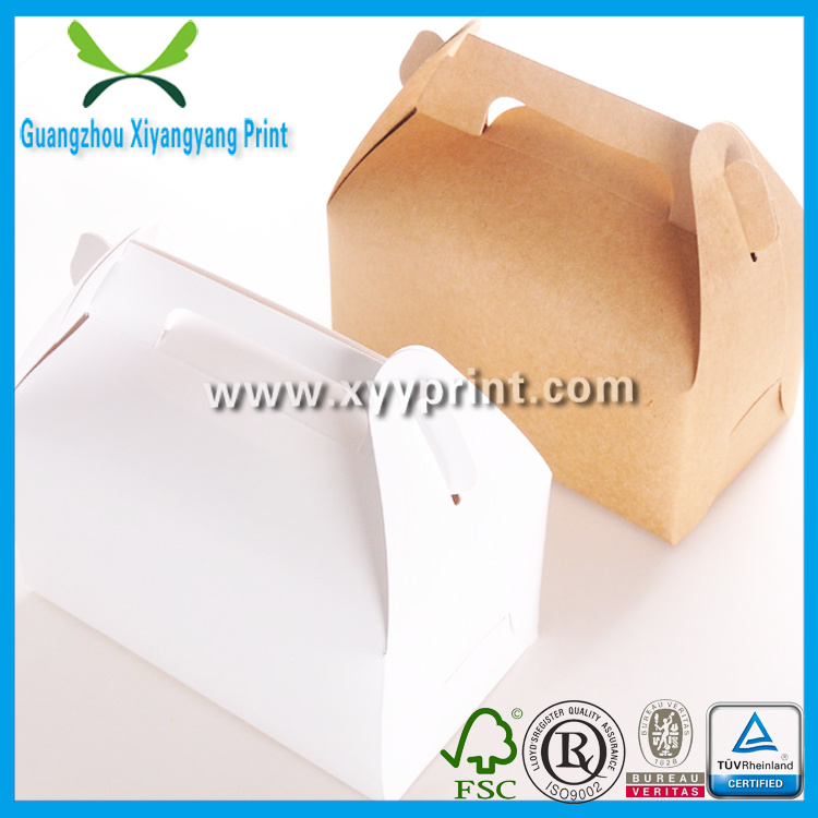 Custom White Kraft Paper Cake Packaging Box