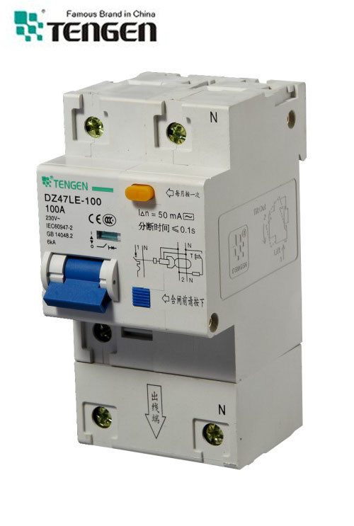 Dz47le-100 Over-Current RCCB Residual Current Operated Circuit Breaker