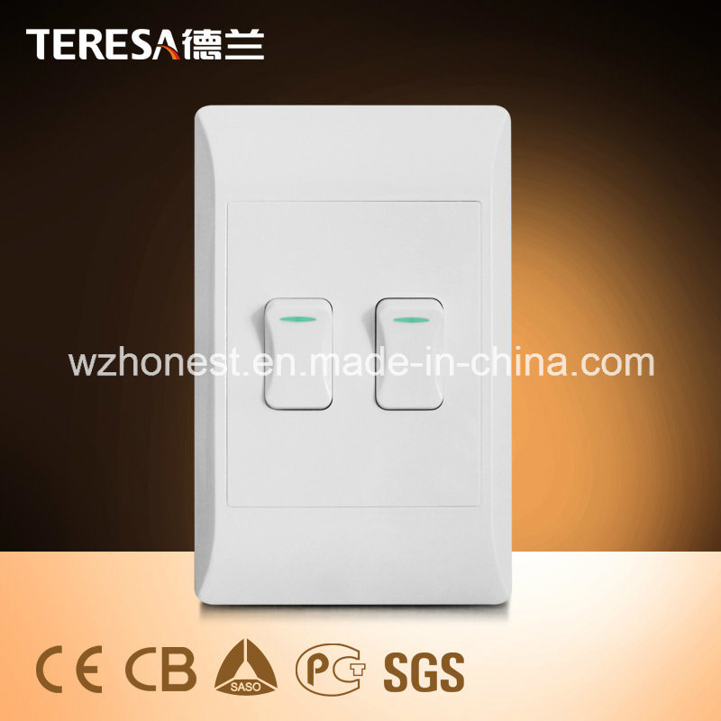 South Africa Standard 3 Gang 1 Way or 2 Way Wall Switch Vertical 3 Gang Switch