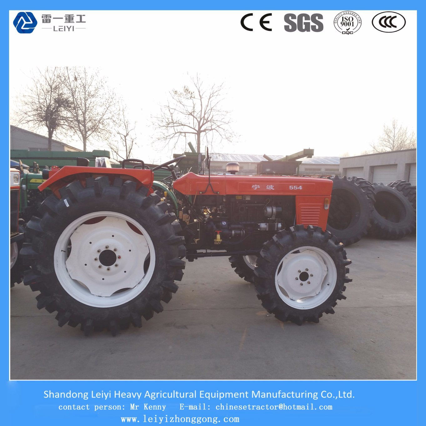 Agricultural Multi-Functional Wheeled Farm Tractor 55HP