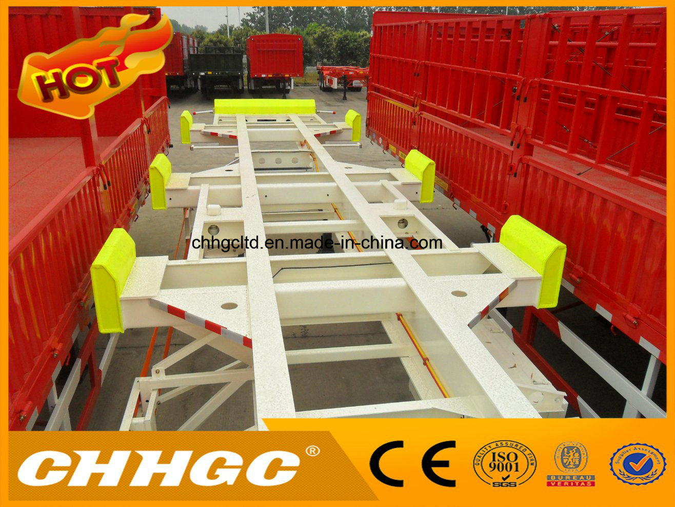45FT Skeleton Container Terminal Trailer for Port Use