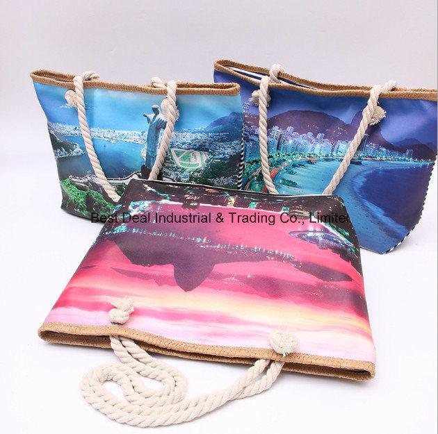 Single-Sided Printing Mini Girl Bag (the back of the bar canvas)