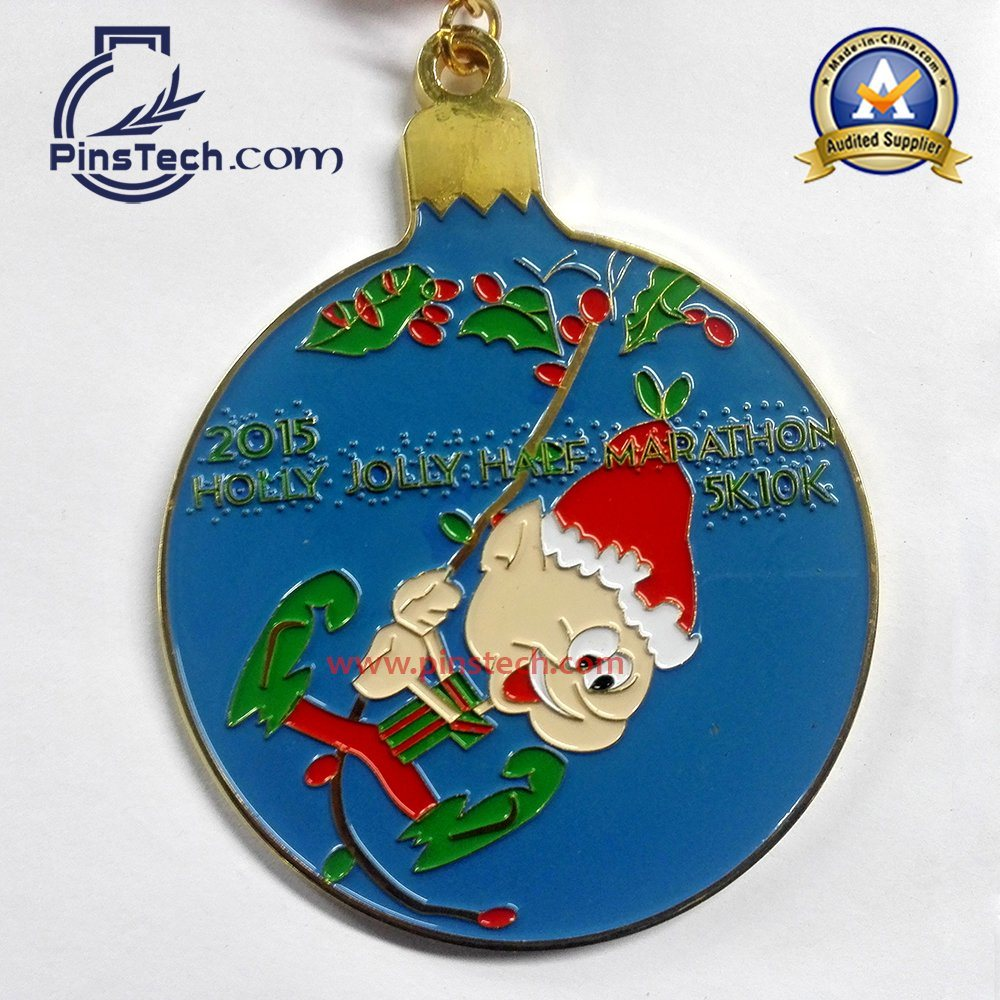 5k 10k Marathon Run Medal with Soft Enamel Color Filling