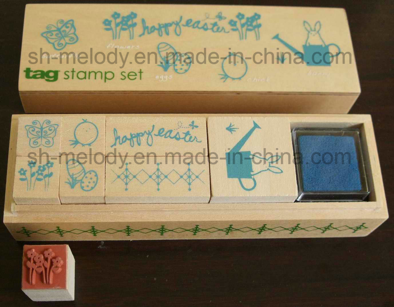 Easter Wooden Stamp Kit/Rubber Stamp Kit