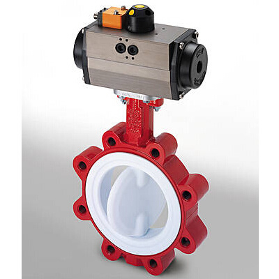 Pneumatic Low Torque PFA Butterfly Valve