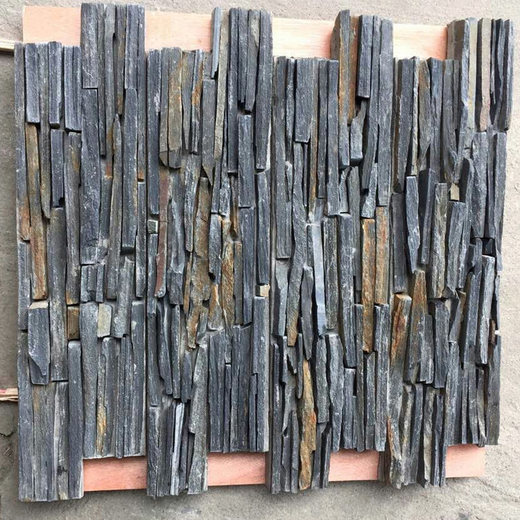 Top Saled Natural Yellow Slate Stacked Cement Wall Panels (SMC-CC158)