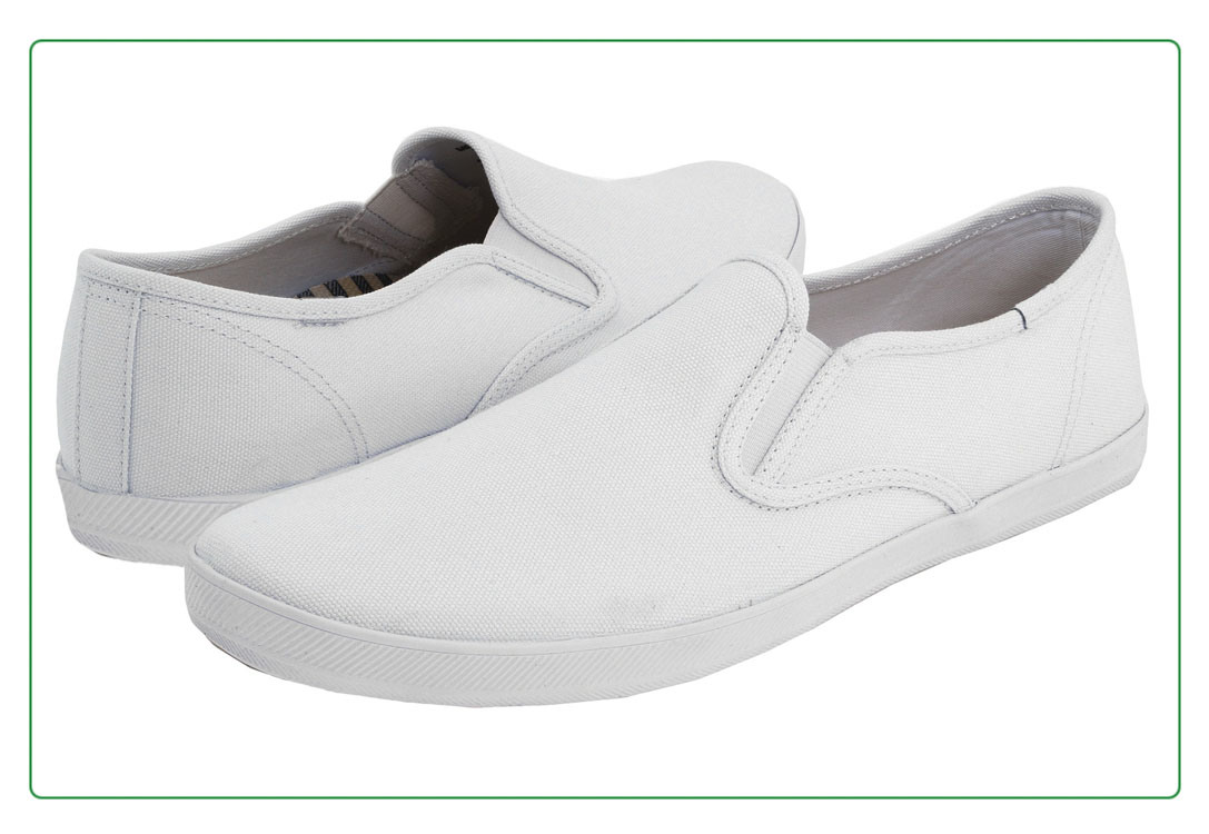 Classic Unisex White Slip-on Canvas Shoes (WS631)
