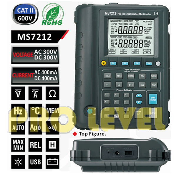 Professional Multi-Functions Process Calibrator (MS7212)