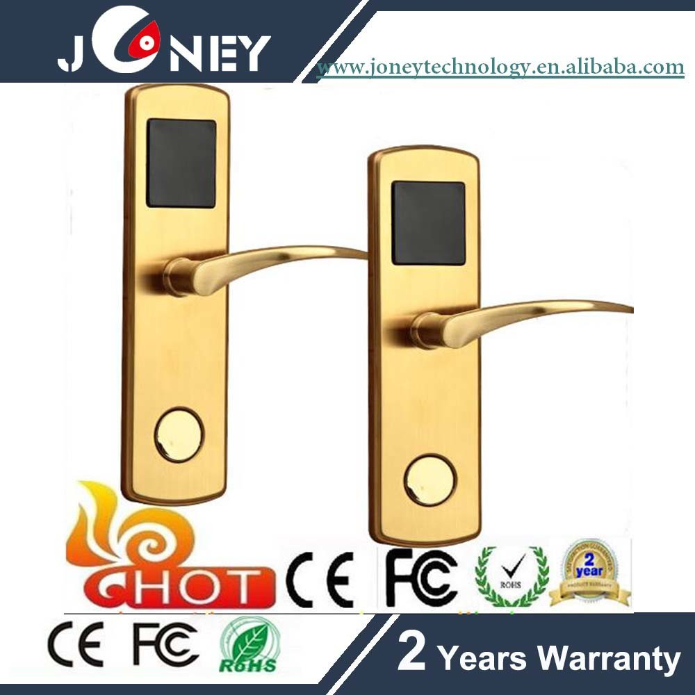 Hot Sales Stainless Steel Electric Hotel Lock with 13.56MHz Mf Card