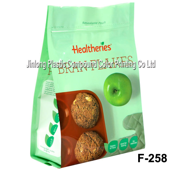 Cookies Bags Quad Sealing Zip Bags