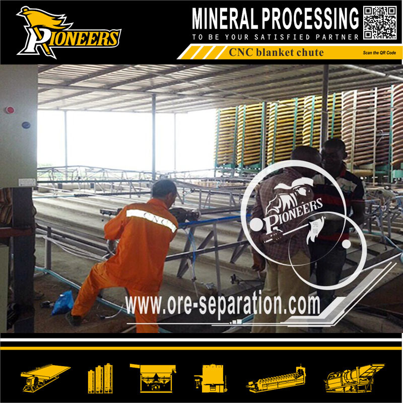 CNC Automatic Blanket Washing Chute Mineral Tailing Recovery Sluice Plant