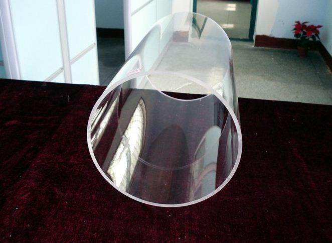 China large diameter clear quartz tube