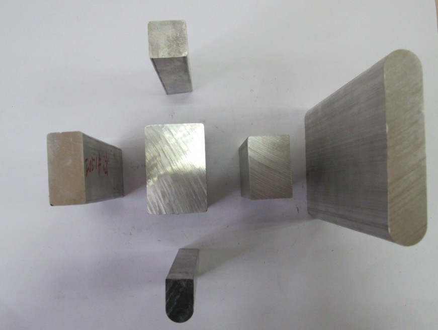 Square solid aluminum section