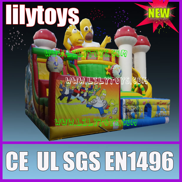Gaint cartoon children′s playground inflatable games