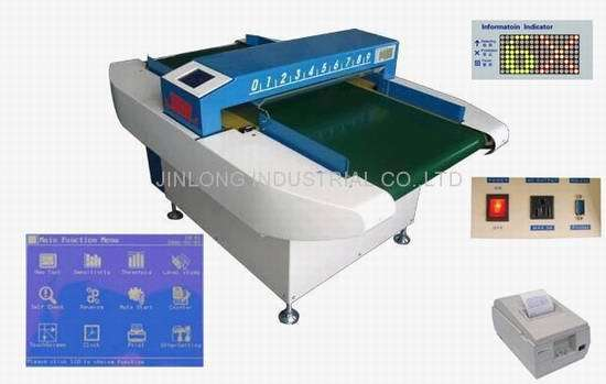 Luxury and Advanced Metal Detector 630-D Auto Conveyor Model Support Print