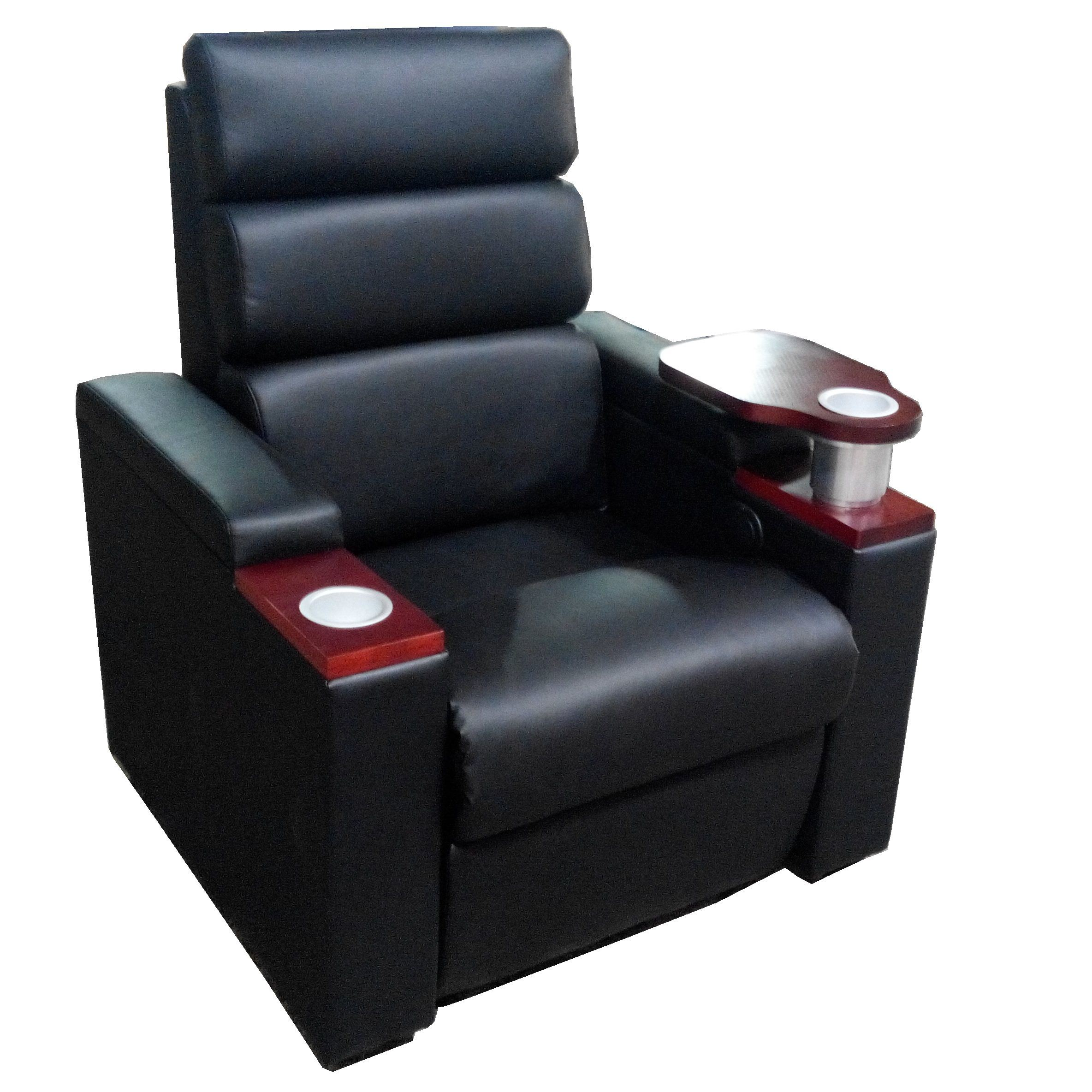 Cinema Seat Real Leather Electric Reclining Theatre Sofa Cinema Chair (VIP 3)