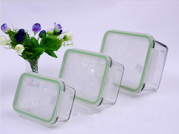 370ml 640ml 1040ml Rectangular Pyrex Glass Food Container Set (GFC-REC)