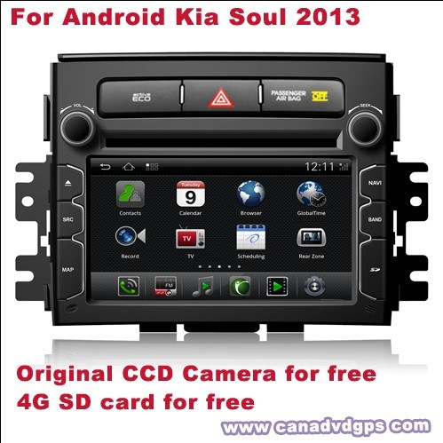 Android KIA Soul 2013 DVD Car GPS, Bluetooth DVR WiFi 3G CCD Camera SD